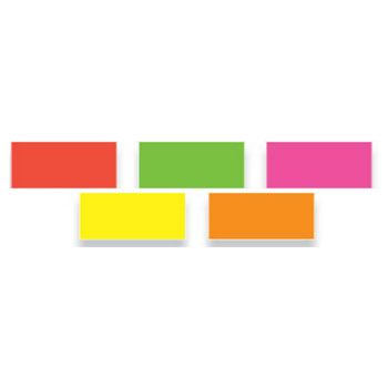 Rectangle Fluorescent Inventory Labels