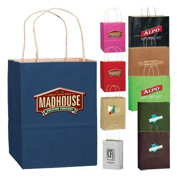 Imprinted Matte Shadow Shopping Bags - 16 X 6 X 13