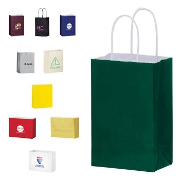 Imprinted Gloss Paper Shopping Bags - detailed view