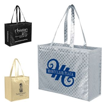 Imprinted Met Gloss Pattern Grocery Bags