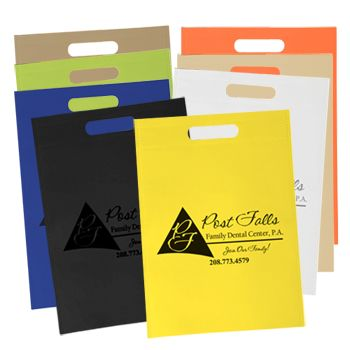 Imprinted Non-Woven Die Cut Handle Bags