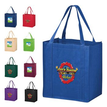 Imprinted Economy Totes With Insert