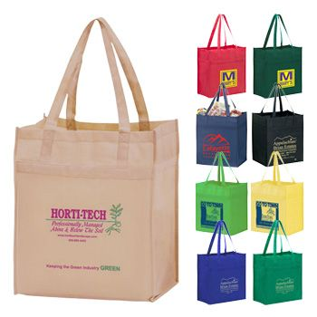 Imprinted Y2K Heavy Duty Grocery Bags - thumbnail view