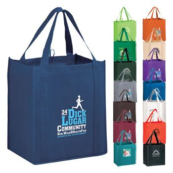 Imprinted Y2K Heavy Grocery Bags W/ Loop