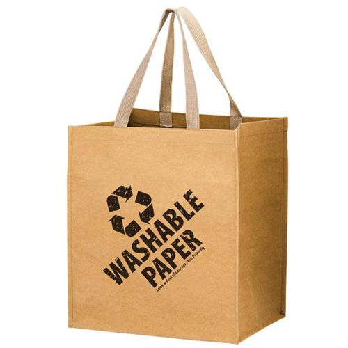 Imprinted Washable Paper Bags - thumbnail view