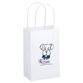 Imprinted Paper Shopping Bags - 5.5 X 3.25 X 12.5