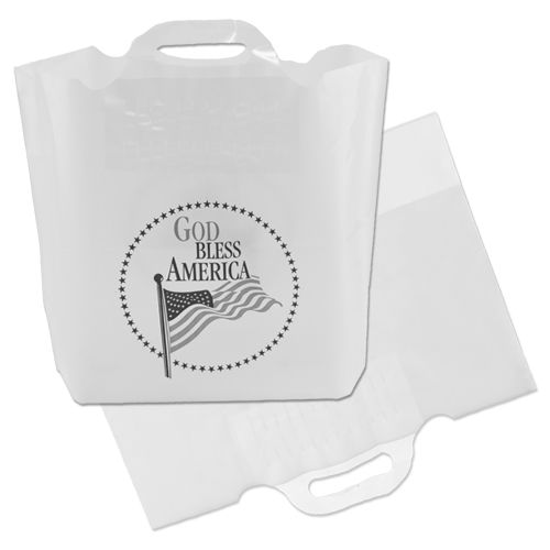Imprinted Soft Bridge Handle Bags - thumbnail view
