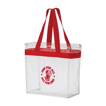 Custom Stadium Crystal Clear Tote