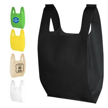 Custom Non-Woven T-Shirt Bags - thumbnail view