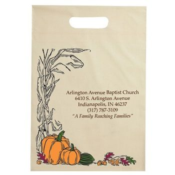 Halloween Bags w/Pumpkins and Leaves