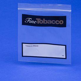 Fine Tobacco Imprint Ziplock Bags