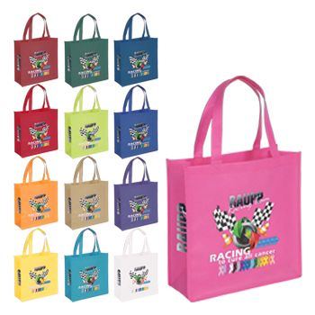 Imprinted Celebration Totes - detailed view