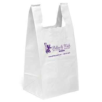Imprinted T-Shirt Bags Jumbo (Short Run)