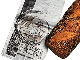 High Density Bakery Bag with Print - thumbnail view
