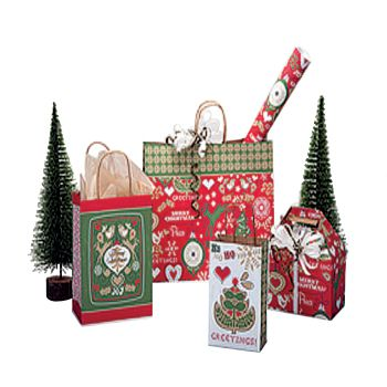Merry Stitches Shopping Bags
