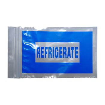 "Blue ""Refrigerate"" Bags"