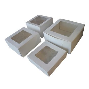 Windowed Cupcake Boxes