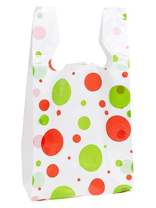 T-Shirt Bag Holiday Dots Print - thumbnail view