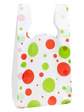 T-Shirt Bag Holiday Dots Print