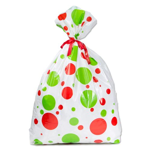 Jumbo Bag Holiday Dots Print - thumbnail view
