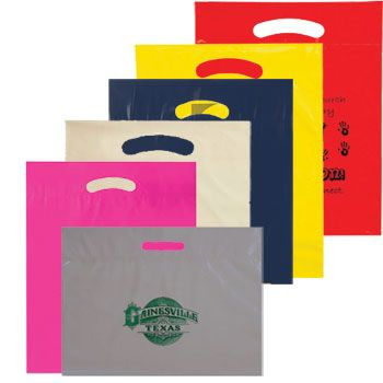 Imprinted Die Cut Handle Bags - thumbnail view