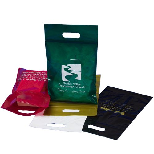 Reclosable Die Cut Handle Bags - thumbnail view