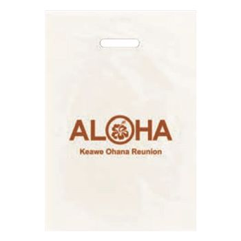 Imprinted Frosted CLEAR Die Cut Bags
