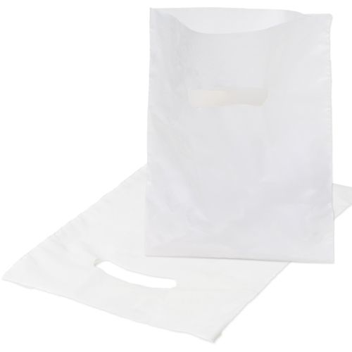 White Die Cut Handle Bags