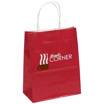 Custom Printed Gloss Paper Shopping Bags