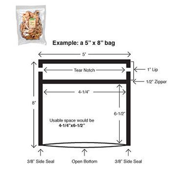 Reclosable Vacuum Bags, 3 MIL Plain