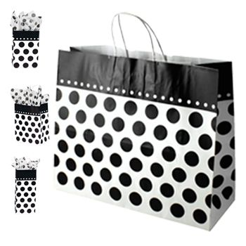 Domino Dots Paper Shopping Bags