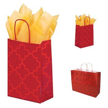 Moroccan Tile Paper Shopping Bags - thumbnail view