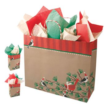 Snowbirds/Kraft Paper Shopping Bags - detailed view