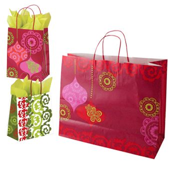 Mod Ornaments Paper Shopping Bags