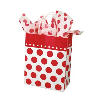 Cheery Dots Paper Shopping Bags - thumbnail view