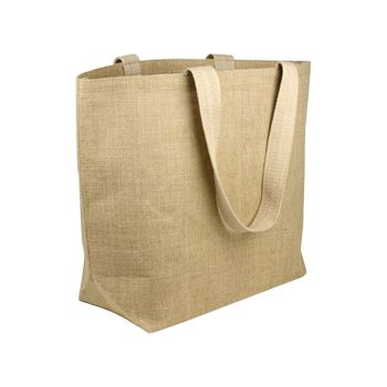 Jute Beach Bag W/Cotton Lining