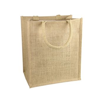 Jute Shopping Tote - detailed view