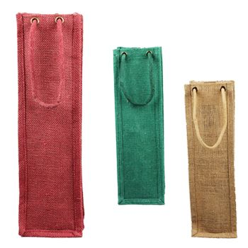 Jute Wine Bags W/Rope Handles - icon view