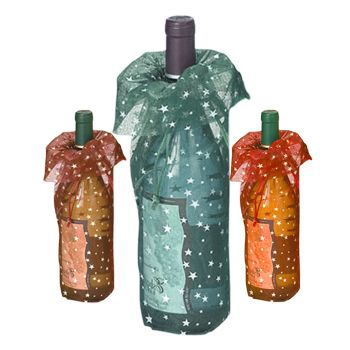 Star Print Wine Bags - thumbnail view