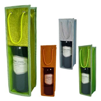 Metallic & Velvet Wine Bags