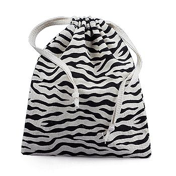 Zebra Print Cotton Pouches