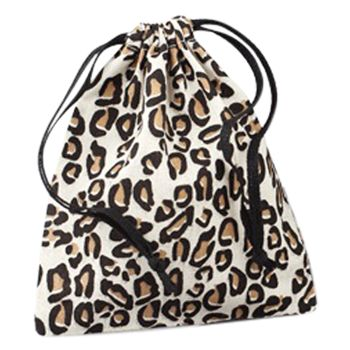 Leopard Print Cotton Pouches