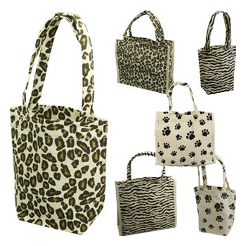 Animal Print Cotton Totes