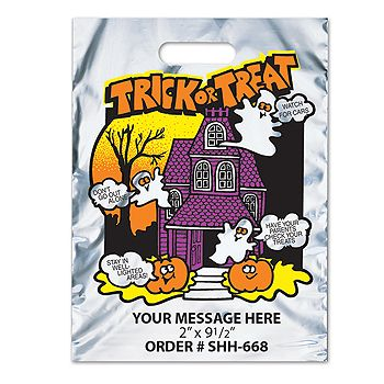 Metallic Trick Or Treat Flying Ghosts