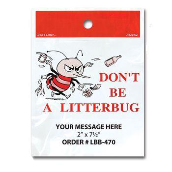 Stock Designs  LitterBags - Don't Litter