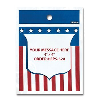 Stock Designs LitterBags - American Flag - thumbnail view