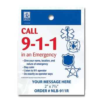 Stock Designs LitterBags - Call 9-1-1 - thumbnail view