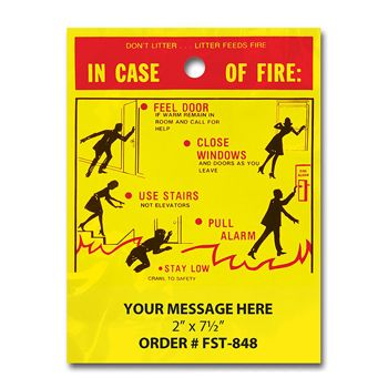 Stock Designs LitterBags In Case of Fire
