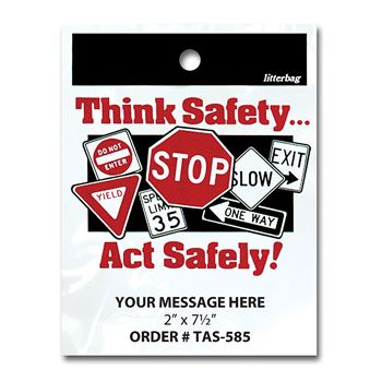 Stock Designs LitterBags - Think Safety - thumbnail view