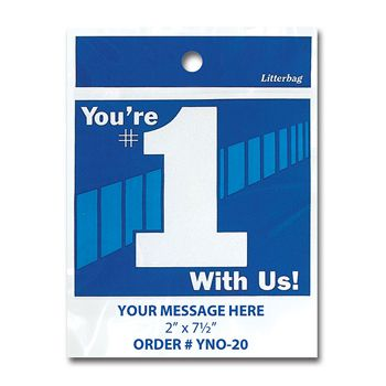 Stock Designs Litterbags - You're #1 Wit